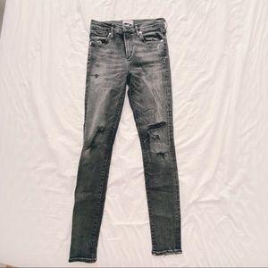 AGOLDE Grey Skinny Jean